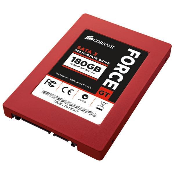 Corsair 180Go SSD Force GT CSSD-F180GBGT-BK SATA III (CSSD-F180GBGT-BK) - Achat / Vente Disque SSD sur Cybertek.fr - 0