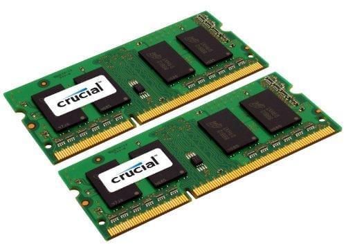 Crucial 8Go 4GBx2 SODIMM, DDR2 PC2-5300 CT2KIT51264AC667 - Mémoire PC portable - 0