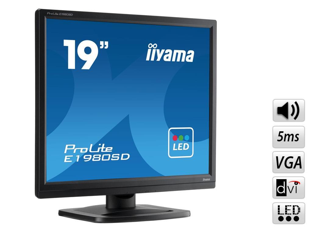 "Iiyama 19""  E1980SD-B1 - Ecran PC Iiyama - Cybertek.fr - 0"