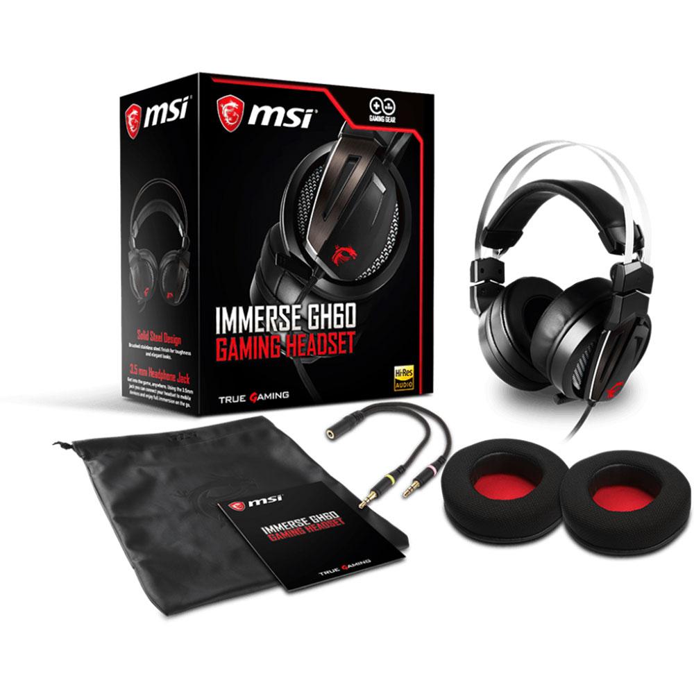 MSI Immerse GH60 Stereo Noir - Micro-casque - Cybertek.fr - 1