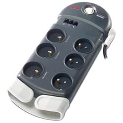 APC Onduleur - Multiprises Parasurtenseur 6 connecteurs +Tel  PH6T3-FR Cybertek