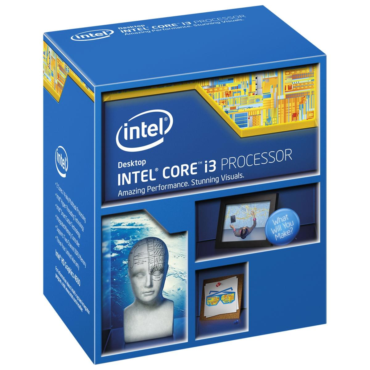 Intel Core i3 4350 - 3.6GHz - Processeur Intel - Cybertek.fr - 0