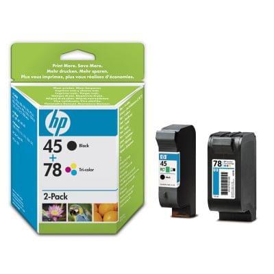 Pack HP 45/78 Noir & Couleur - SA308AE pour imprimante Jet d'encre HP - 0