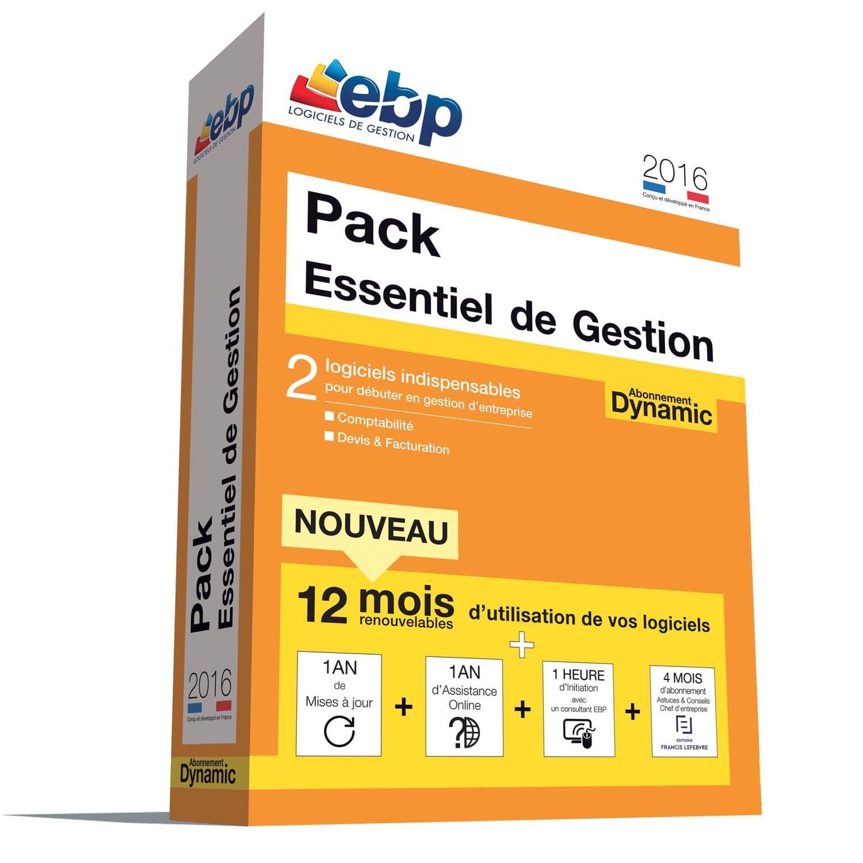 EBP Pack Essentiel de Gestion DYNAMIC 12 mois 2016+VIP (1166E084FAA) - Achat / Vente Logiciel application sur Cybertek.fr - 0