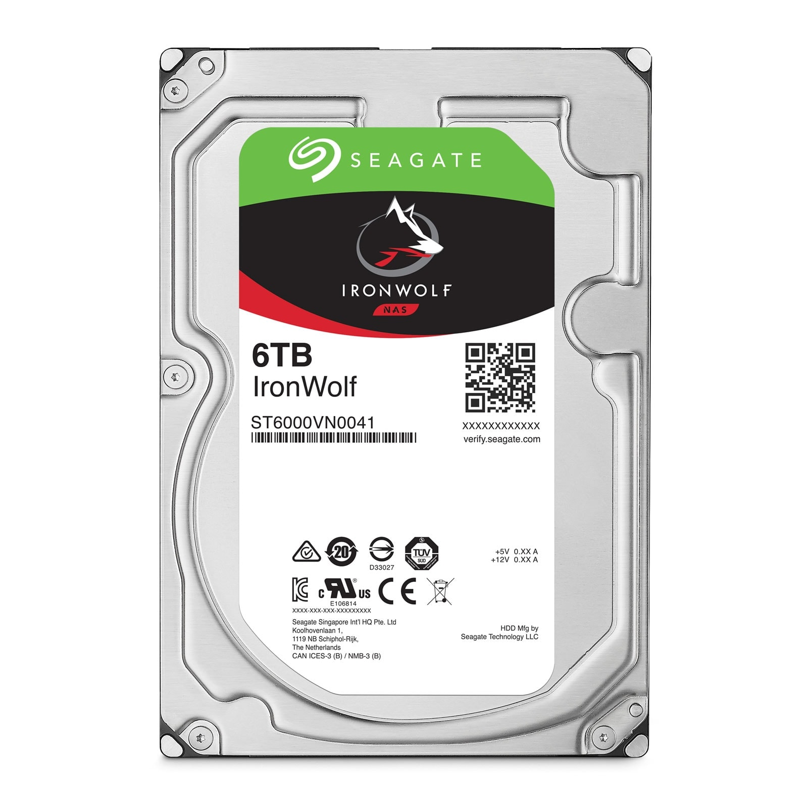 "Seagate 6To SATA III 128Mo IronWolf ST6000VN0041 - Disque dur interne 3.5"" - 0"