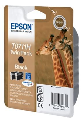 Epson Cartouche Double Pack Noir (C13T07114H10) - Achat / Vente Consommable Imprimante sur Cybertek.fr - 0