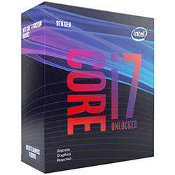image produit Intel Core i7-9700KF - 3.6GHz/LGA1151(2017)/Ss Vent./BOX Cybertek