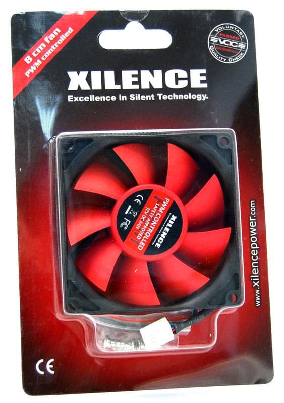 Ventirad Xilence Case Fan black/red COO-XPF80.R.PWM 15 DB 8CM - 0