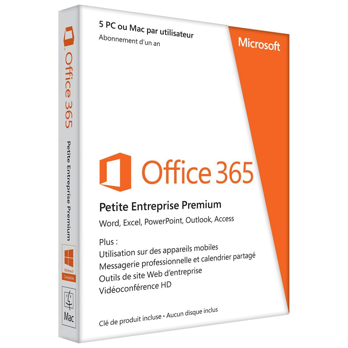 Microsoft Office 365 Small Business Premium 1 an (AAA-04580) - Achat / Vente Logiciel suite bureautique sur Cybertek.fr - 0
