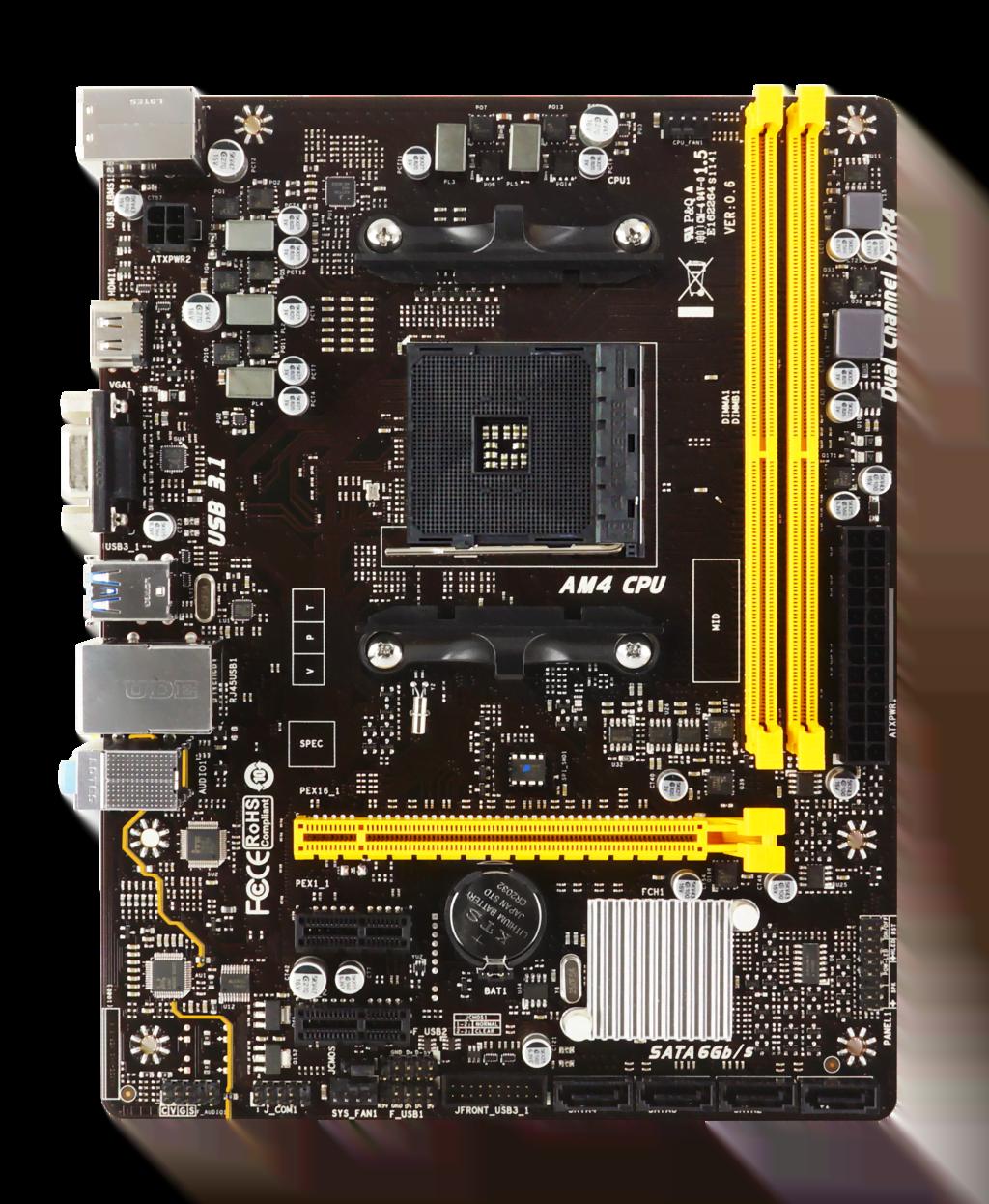 Biostar A320MH Micro-ATX DDR4 - Carte mère Biostar - Cybertek.fr - 3