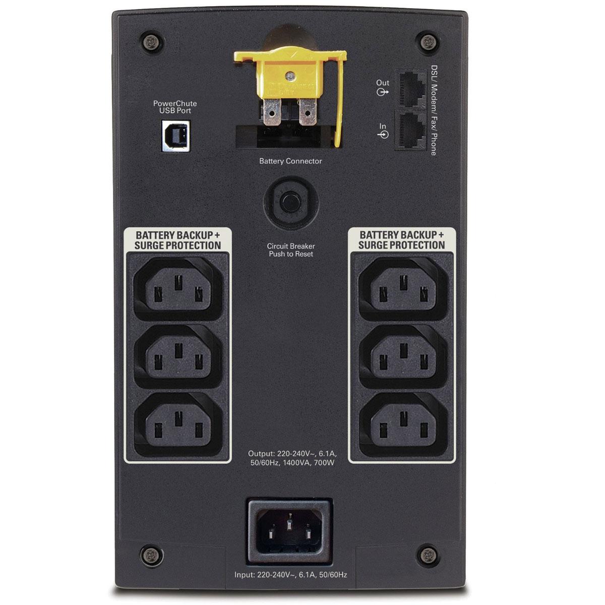 BX1400UI - 6 x IEC - Onduleur APC - Cybertek.fr - 1