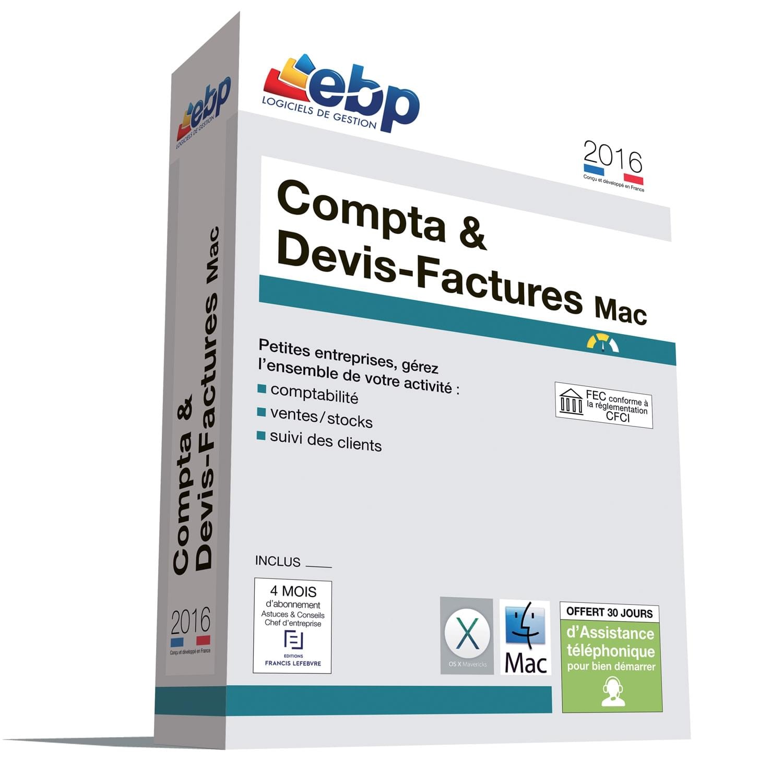 EBP Compta & Devis-Factures MAC 2016 (1098J080FAA) - Achat / Vente Logiciel Application sur Cybertek.fr - 0
