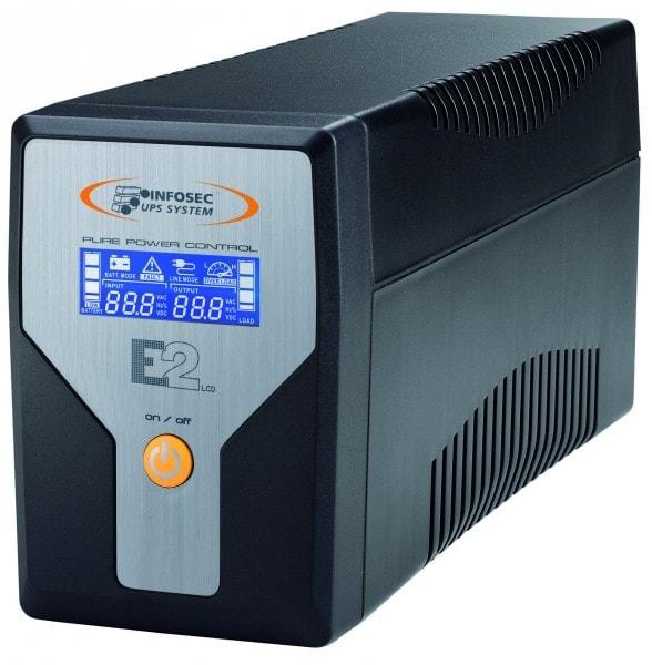 E2 LCD 600VA On-Line - Prises IEC - Onduleur Infosec - Cybertek.fr - 0
