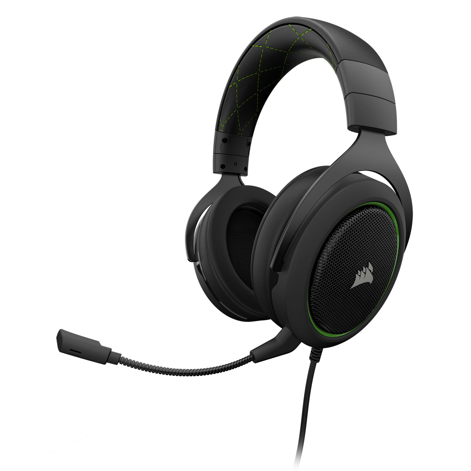 Corsair HS50 Stereo Gaming Headset Green Stereo - Micro-casque - 3