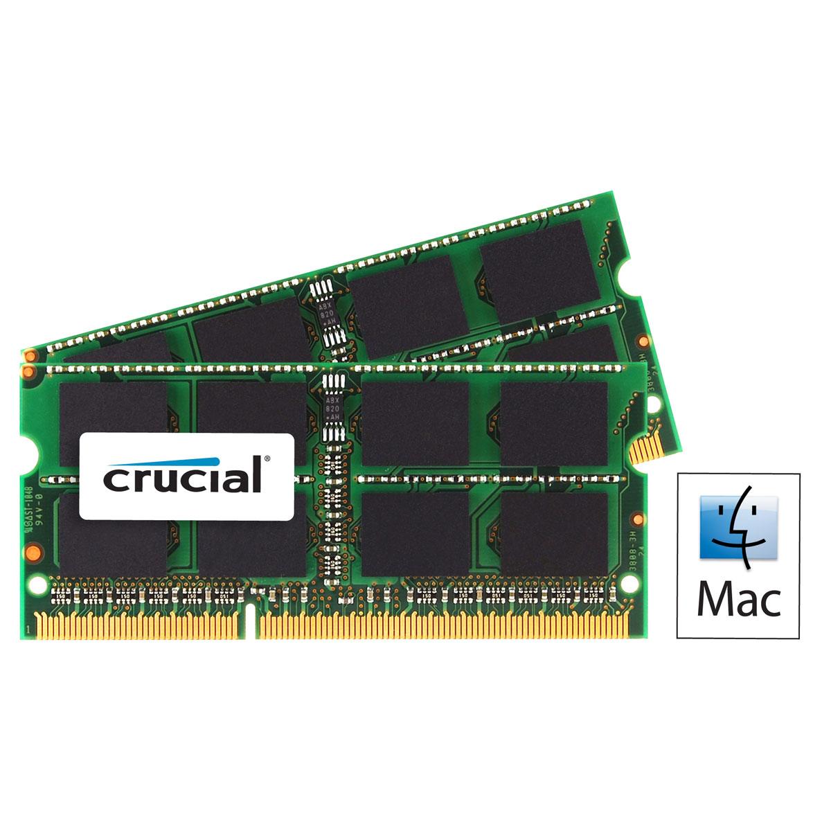 Crucial SO-DIMM (2x8Go) DDR3 1600 for MAC CT2C8G3S160BMCEU 16Go SO-DDR3 - Mémoire PC portable - 0