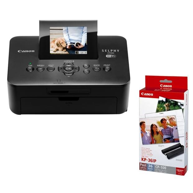 Canon Selphy CP900 + Kit Papier KP-36IP (5959B010+7737A001) - Achat / Vente Imprimante sur Cybertek.fr - 0