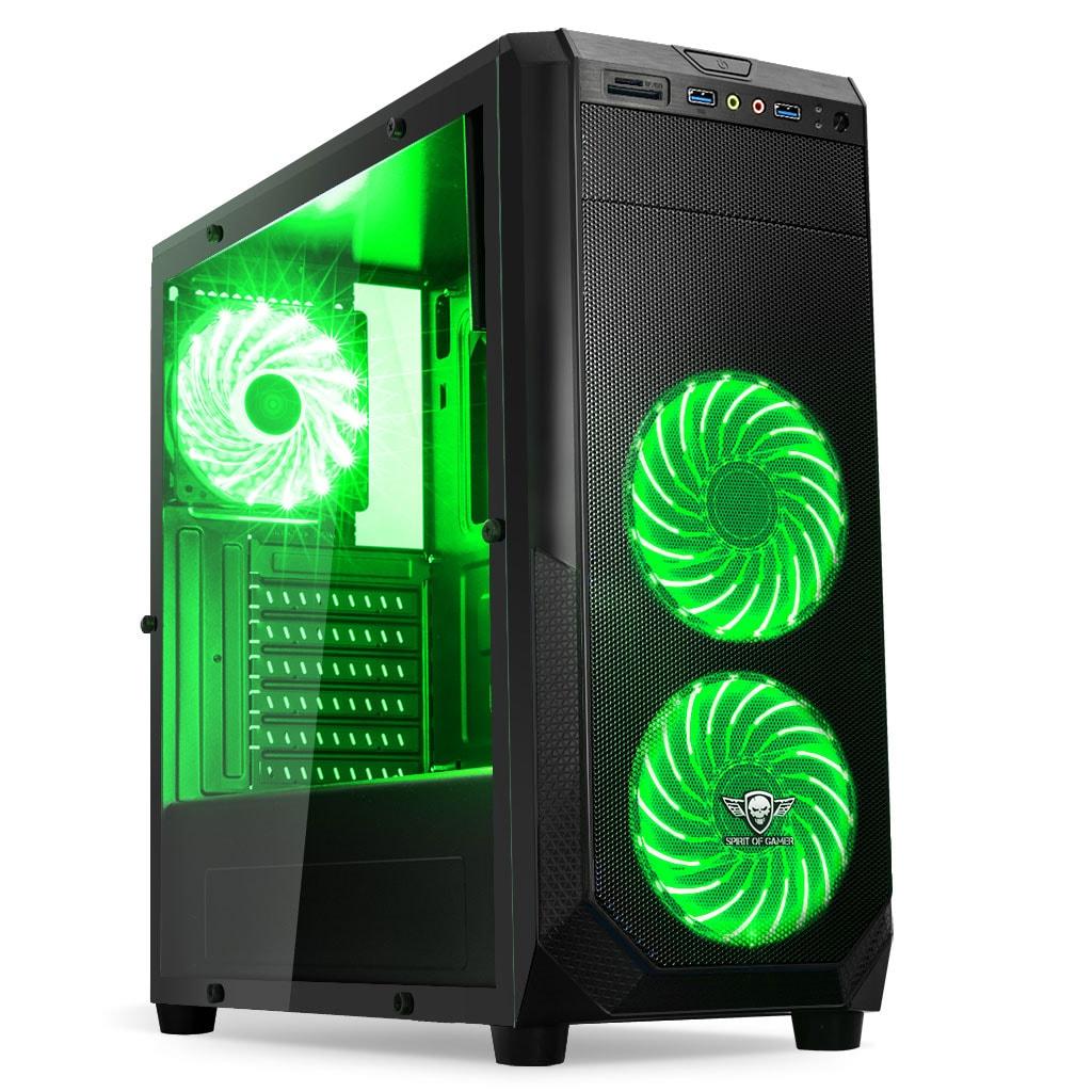 S.O.G ROGUE I GREEN Noir - Boîtier PC S.O.G - Cybertek.fr - 0