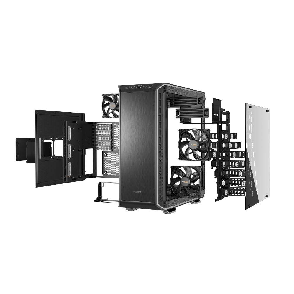 Be Quiet! Dark Base Pro 900 Silver - Boîtier PC Plexiglas - Sans Alim - 1