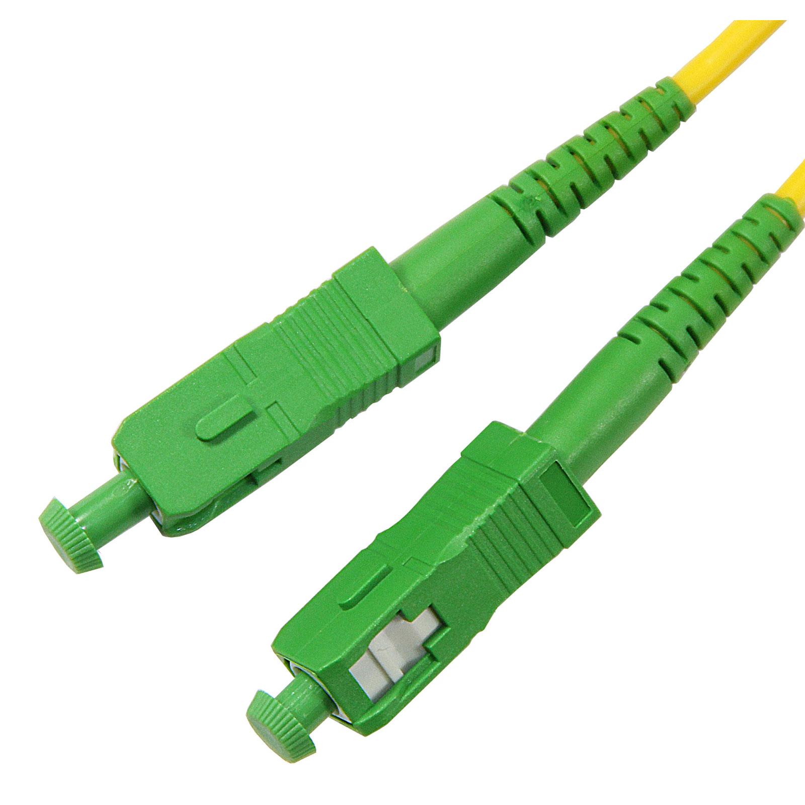 Cordon fibre optique SC APC/APC 10m - Connectique réseau - 0