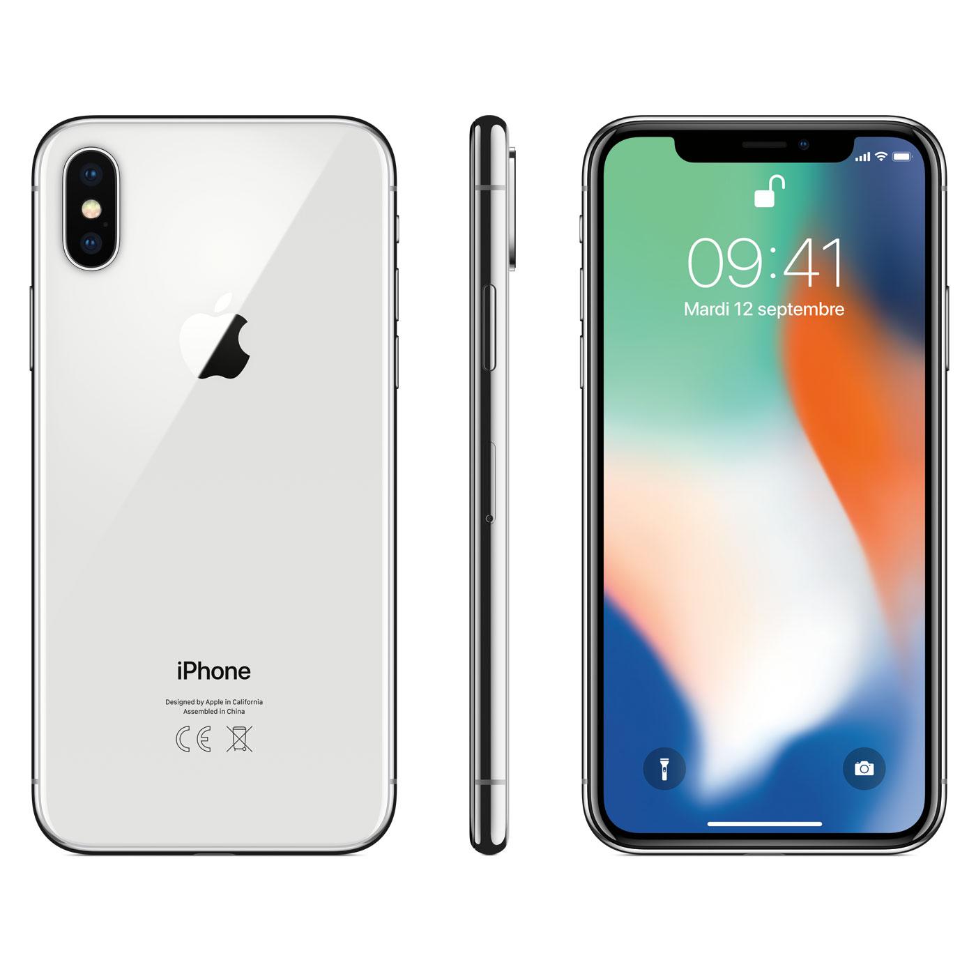 Apple iPhone X 256Go Argent - Téléphonie Apple - Cybertek.fr - 1