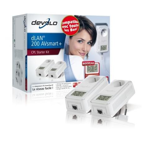 Devolo dLAN 200 AVsmart+ (200Mb) avec prise (1537) - Achat / Vente Adaptateur CPL sur Cybertek.fr - 0