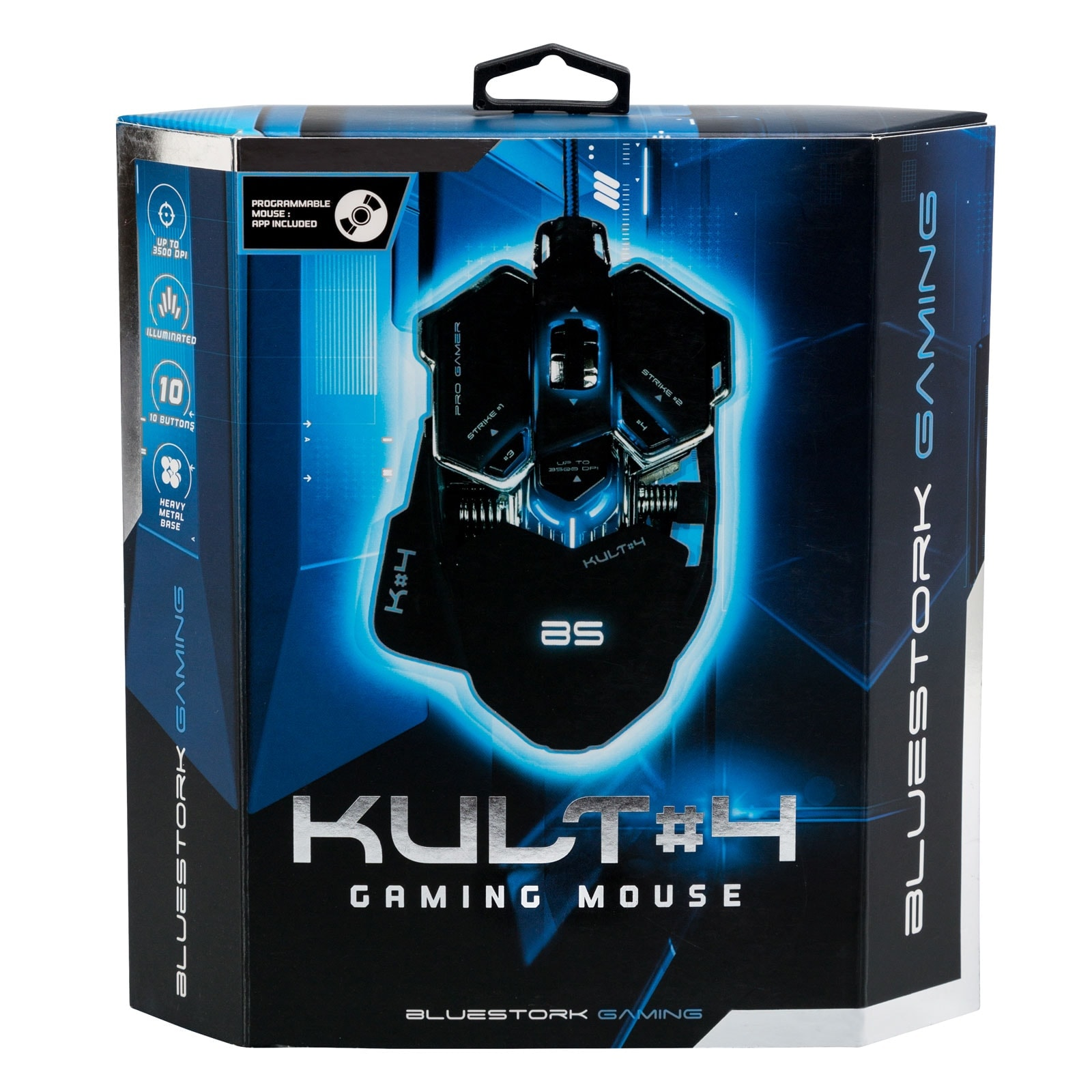 Souris PC Gamer Bluestork KULT 4 BLACK ED. - 3500dpi/Rétroéclairé/10 boutons - 4