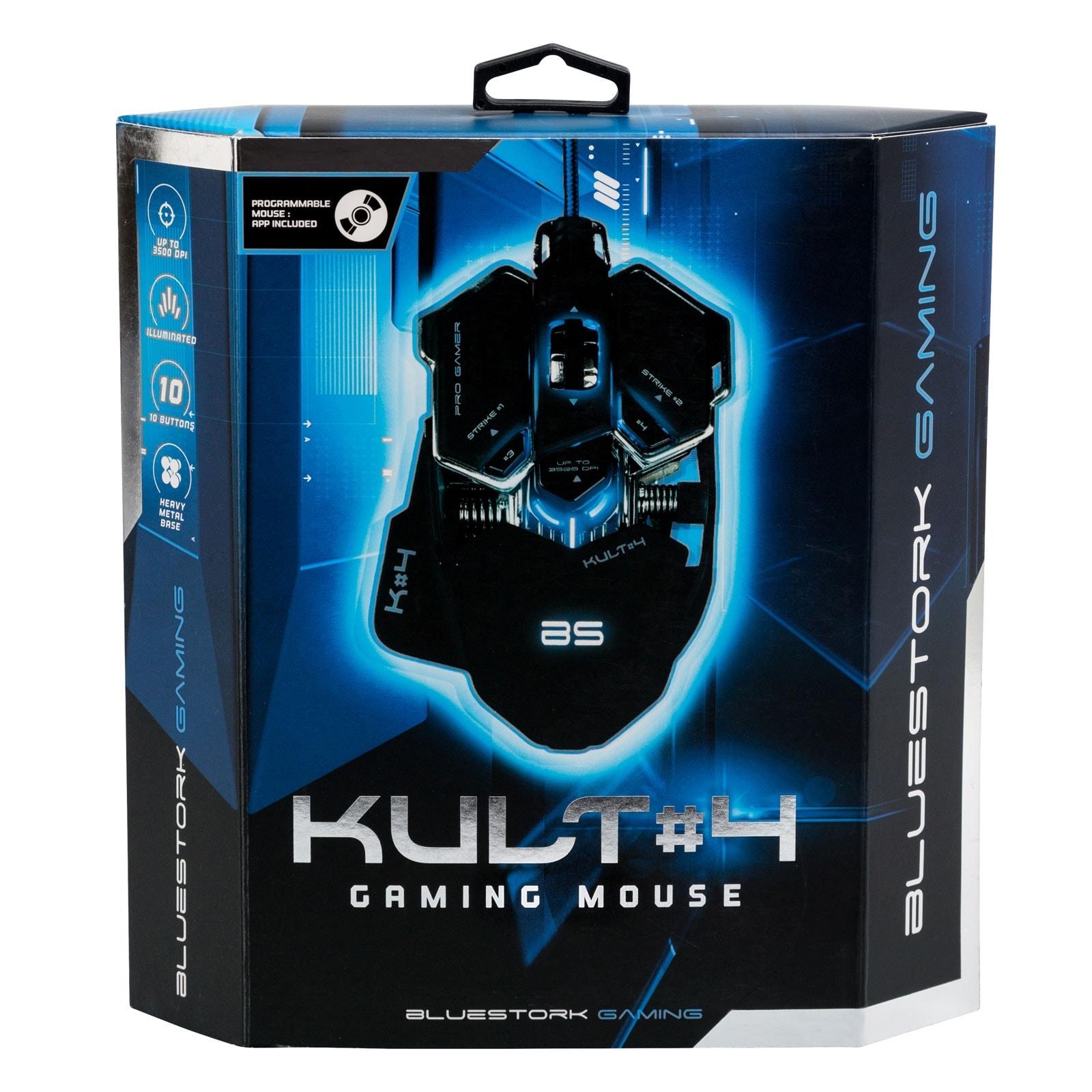 Bluestork KULT 4 BLACK ED. (BS-GM-KULT4) - Achat / Vente Souris PC sur Cybertek.fr - 4