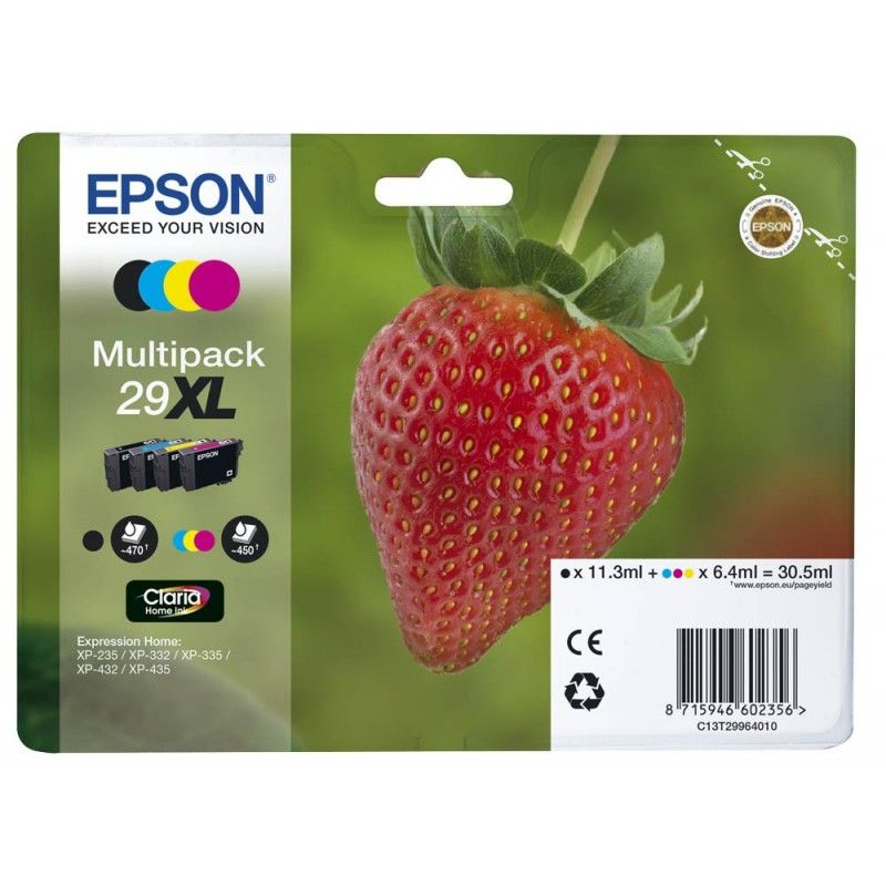 Pack Cartouche Noire + Couleur 29XL - T2996 pour imprimante  Epson - 0