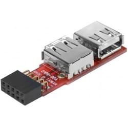 No Name Adaptateur 2 ports USB2.0 internes sur Carte Mere (307822) - Achat / Vente Connectique PC sur Cybertek.fr - 0