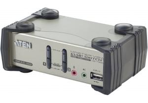 2UC-1 Ec&Cl&So USB/PS2 + audio - CS1732 - Commutateur Aten - 0