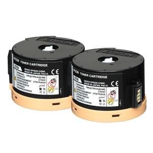 Toner 0711 2x Noir 2500p Return Prog. - C13S050710 pour imprimante Laser Epson - 0