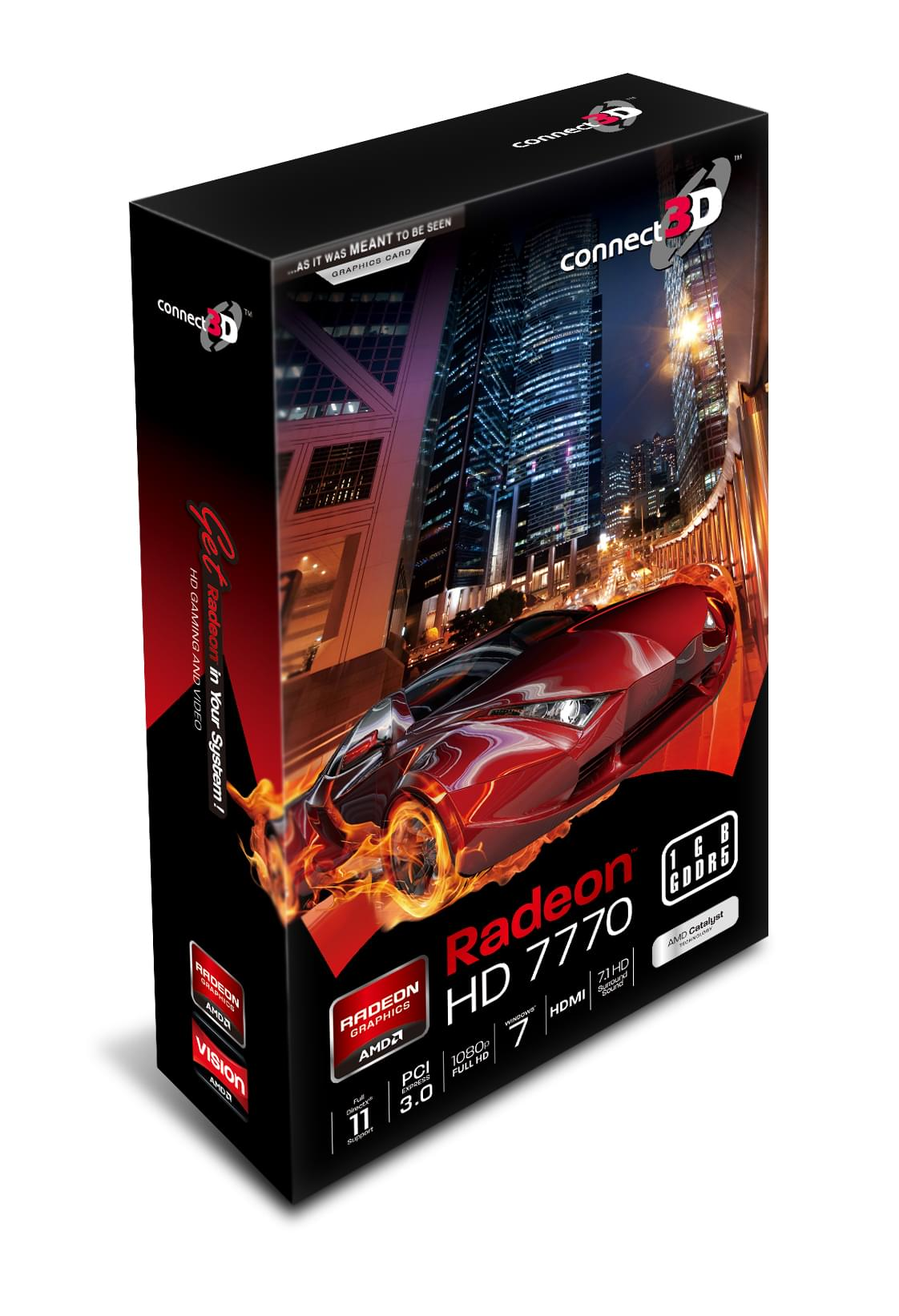 Connect 3D Radeon HD 7770 (C3D-H7770-1GD5E-DP stop) - Achat / Vente Carte Graphique sur Cybertek.fr - 0