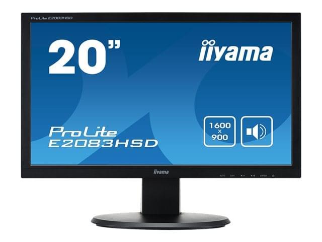 """Iiyama 20""""  E2083HSD-B1 - Ecran PC Iiyama - Cybertek.fr - 0"""