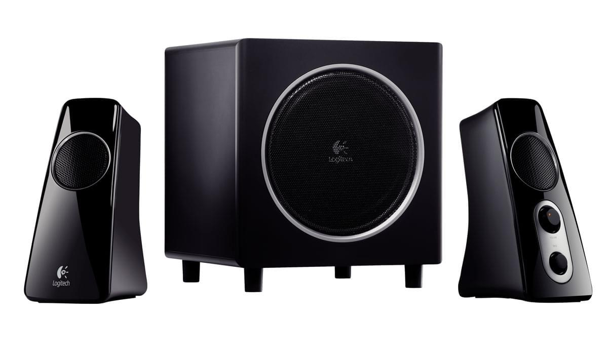Logitech Speaker System Z523 Black 2HP+Caisson (980-000321) - Achat / Vente Enceinte PC sur Cybertek.fr - 0