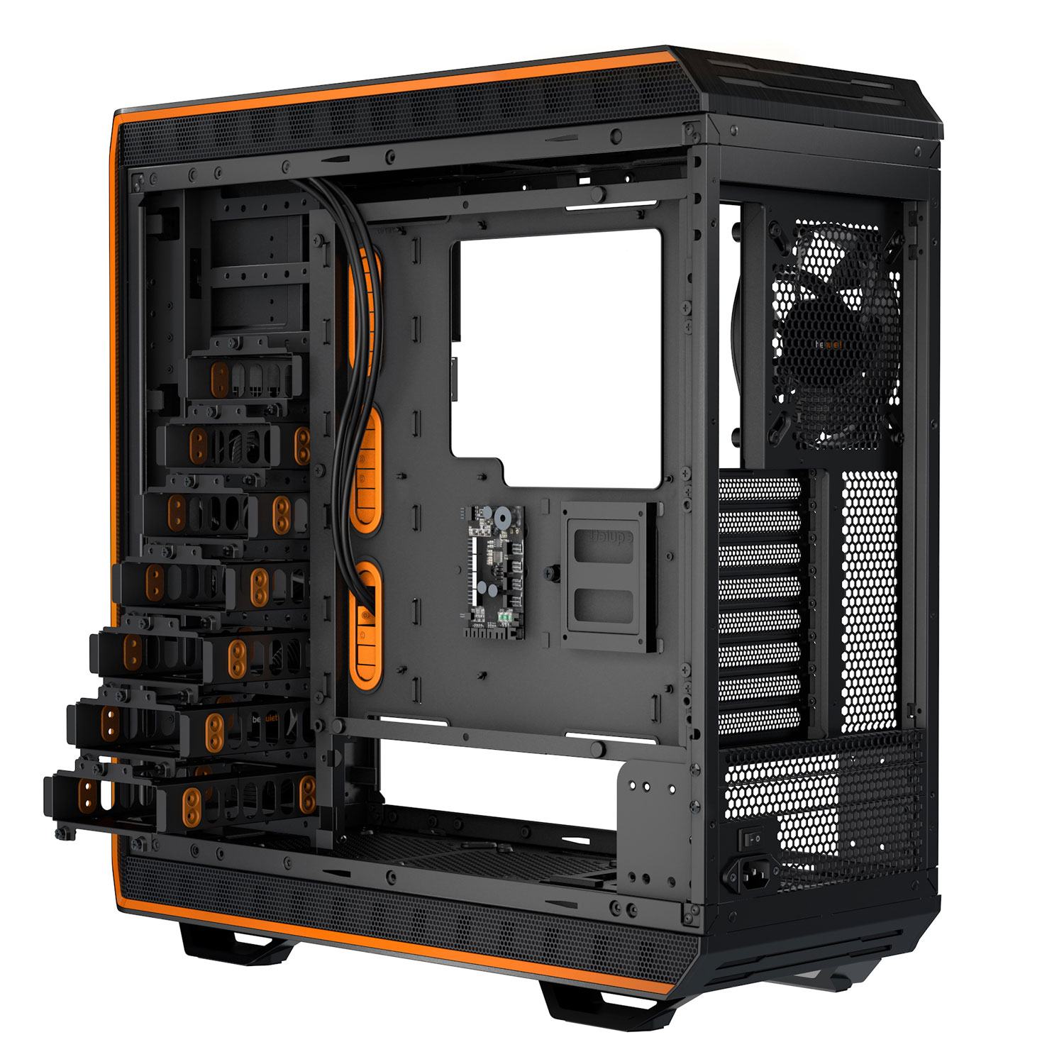 Be Quiet! Dark Base Pro 900 Orange - Boîtier PC Plexiglas - Sans Alim - 3
