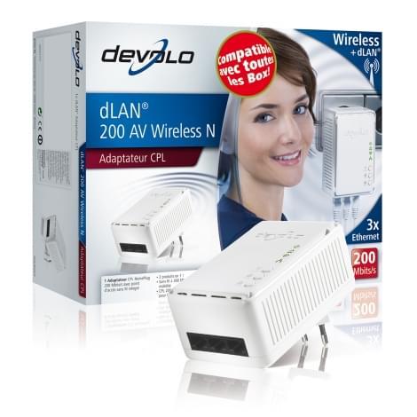 Devolo dLAN 200 AV WiFi N (200Mb) (01410) - Achat / Vente Adaptateur CPL sur Cybertek.fr - 0