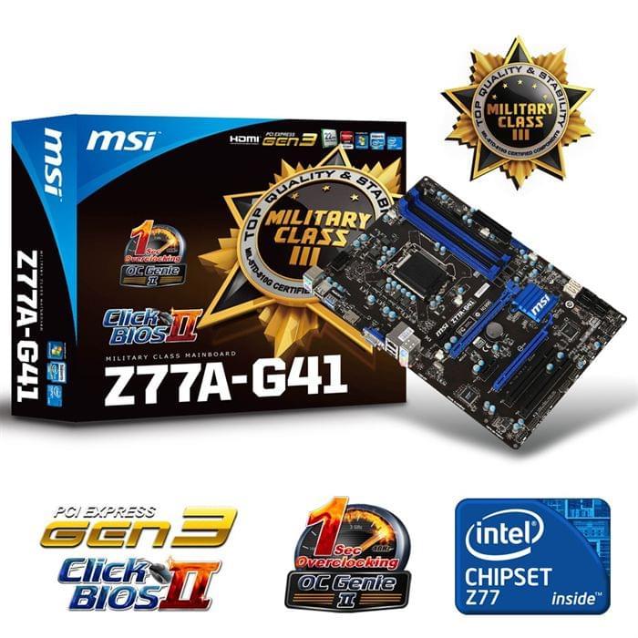 MSI Z77A-G41 (Z77A-G41 ) - Achat / Vente Carte mère sur Cybertek.fr - 0