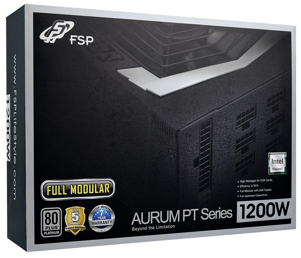 Fortron (FSP) ATX 1200 W. AURUM PT92+ PT-1200 Full Mod. 80+Plat. (PPA12A0600) - Achat / Vente Alimentation sur Cybertek.fr - 0