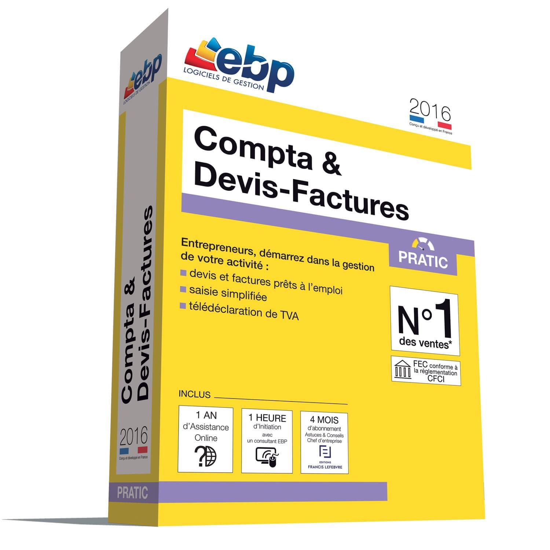 EBP Compta & Devis-Factures Pratic 2016 + VIP (1108E081FAA) - Achat / Vente Logiciel Application sur Cybertek.fr - 0