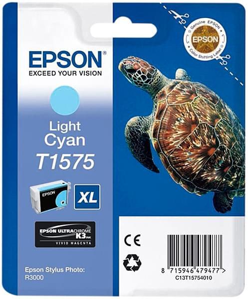 Cartouche T1575 Cyan clair pour imprimante Jet d'encre Epson - 0