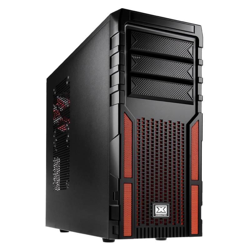Xigmatek Asgard 381 Black/Orange (CCC-AD38BV-U01) - Achat / Vente Boîtier PC sur Cybertek.fr - 0