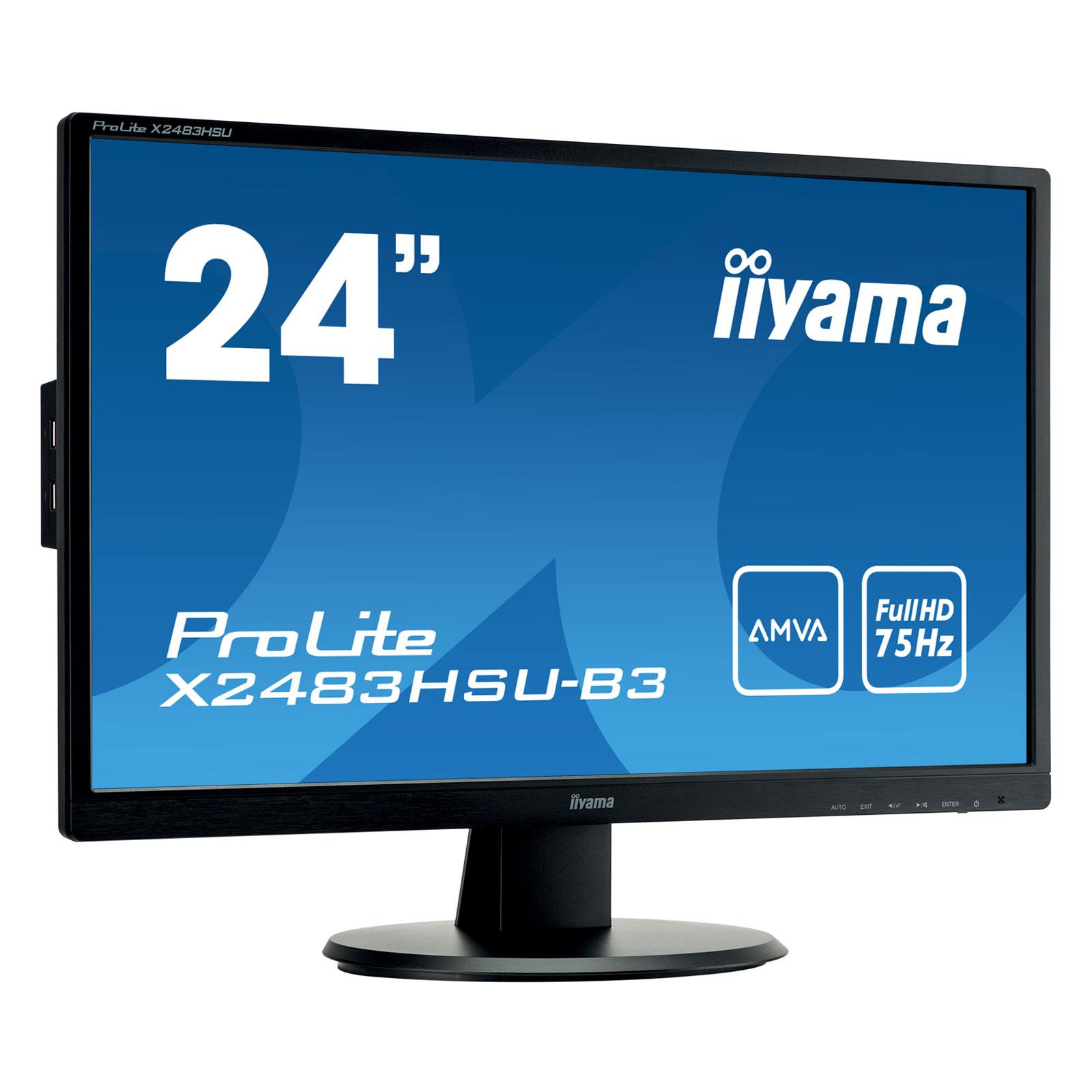 """Iiyama 24""""  X2483HSU-B3 - Ecran PC Iiyama - Cybertek.fr - 0"""