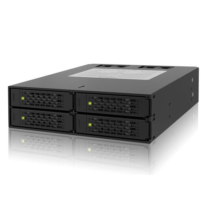 """Icy Dock MB994SP-4S  pour 4 DD 2.5"""" SATA/SAS dans baie 5.25 (MB994SP-4S) - Achat / Vente Tiroir Extractible sur Cybertek.fr - 0"""
