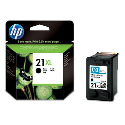Cartouche N° 21 XL Noir 475p - C9351CE pour imprimante Jet d'encre HP - 0