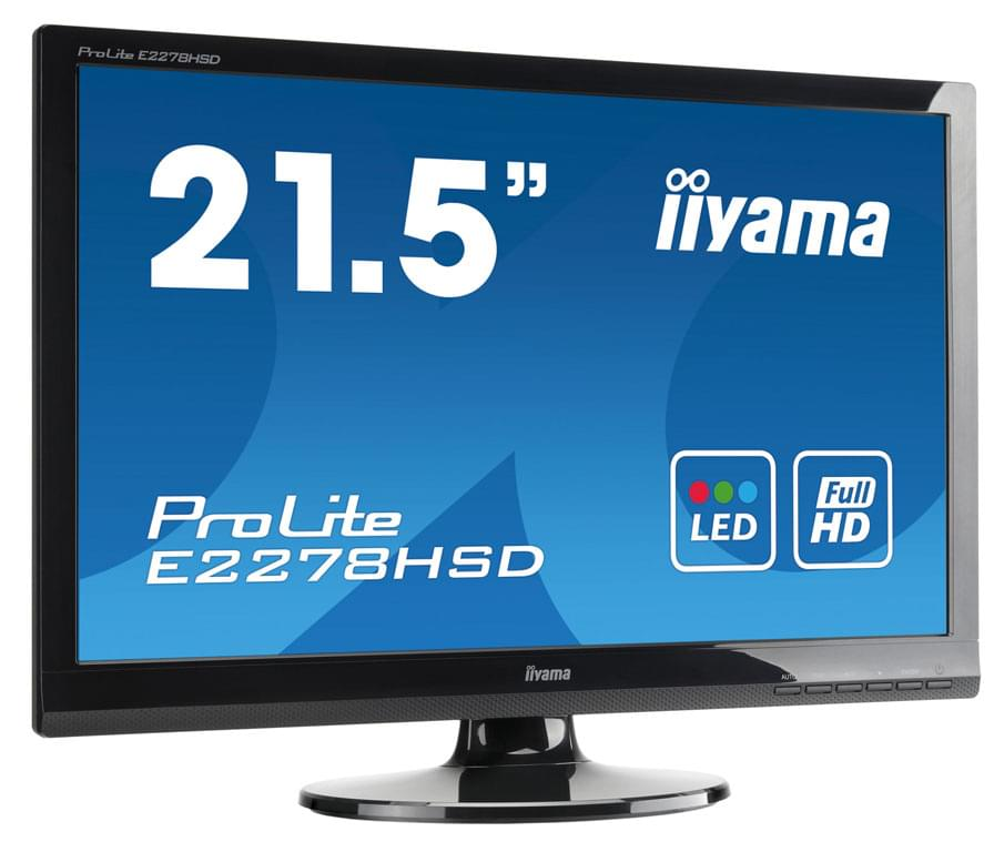 "Iiyama E2278HSD-GB1- 22"" LED/5 ms/DVI/HP/BLACK (E2278HSD-GB1) - Achat / Vente Ecran PC sur Cybertek.fr - 0"