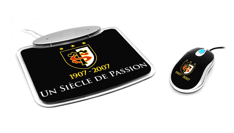 "Souris PC MAD-X ""Stade Toulousain"" Pack Souris+Tapis - STHSTM-01 - 0"