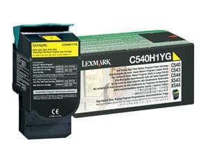 Toner Jaune 2000p - C540H1YG pour imprimante Laser Lexmark - 0
