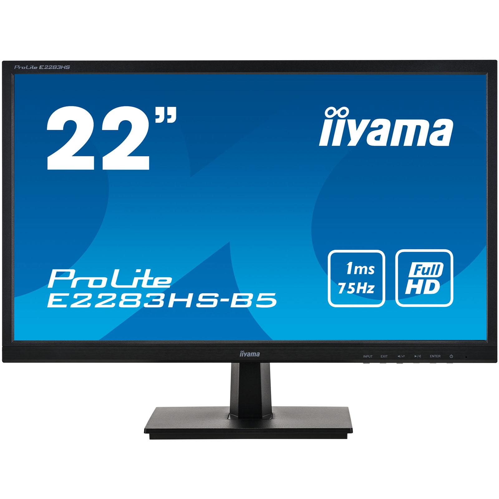 "Iiyama 22""  E2283HS-B5 -- - Ecran PC Iiyama - Cybertek.fr - 0"