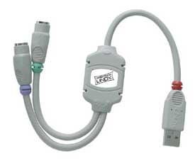 No Name Adaptateur USB à 2 ports PS2 (151324) - Achat / Vente Connectique PC sur Cybertek.fr - 0