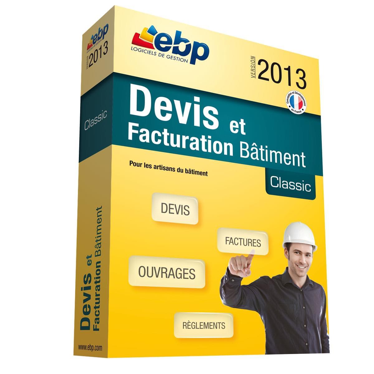 EBP Devis et Facturation Bâtiment Classic 2013 (1088J140FAA) - Achat / Vente Logiciel Application sur Cybertek.fr - 0